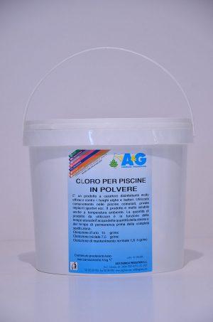 cloro in polvere per piscine A&G