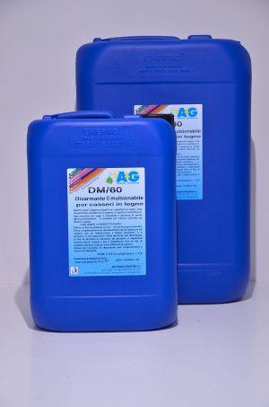 dm 60 disarmante emulsionabile per casseri in legno A&G