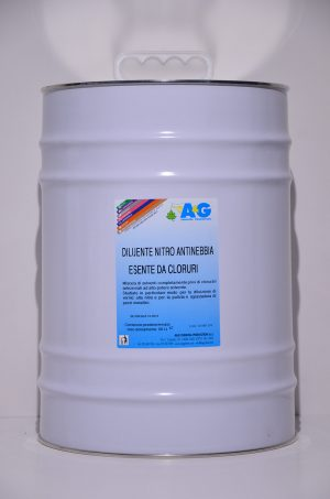 diluente nitro antinebbia esente da cloruri A&G