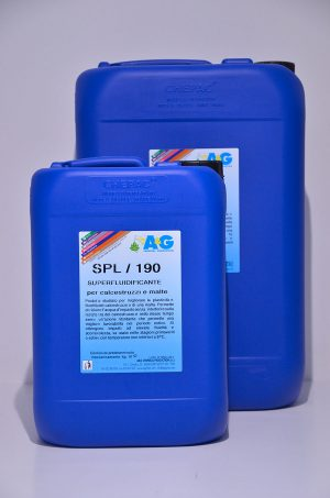 spl 190 superfluidificante per calcestruzzi e malte A&G