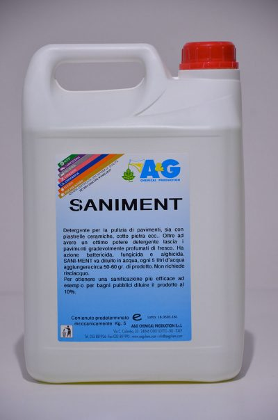 saniment detergente per la pulizia di pavimenti A&G