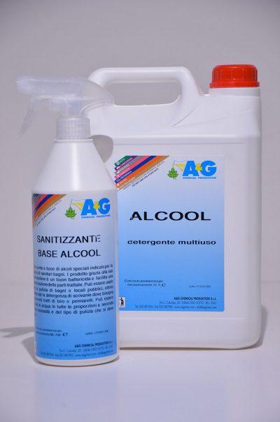 sanitizzante alcool detergente multiuso A&G