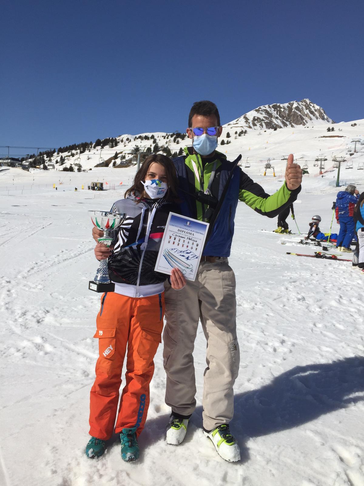 sci sulla neve trofeo al passo del tonale