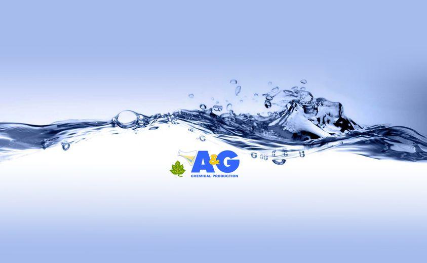 logo A&G sfondo blu con acqua